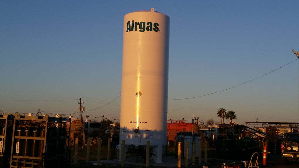 fully painted liquid nitrogen tank airgas