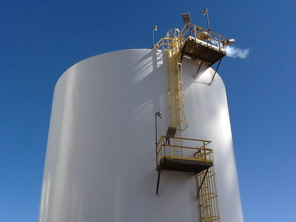 cryogenic tank fireproofing