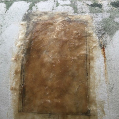 patched insulation with fibrerglass