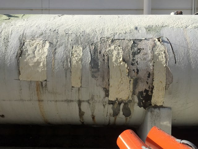patched insulation repair cryogenic tanks