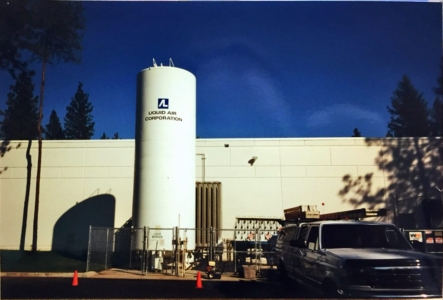 cryogenic tanks with logos
